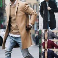 Fashion Men's Winter Wool Coat Trench Coat Warm Outwear Overcoat Long Jacket Lot