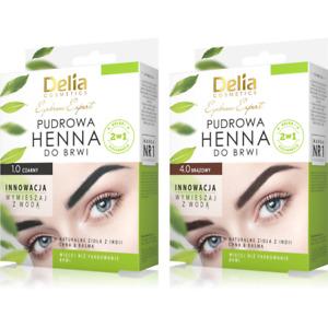 Delia - Henna Eyebrows Powder Eyebrow Tint 4g Dye Kit - Black / Brown
