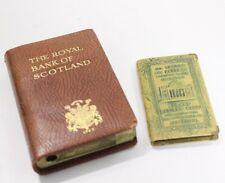 2 Vintage Bank Book Banks Albany Savings Bank Royal Bank of Scotland