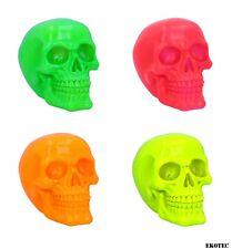More details for nemesis now skull fluorescent colour neon luminous pink green yellow 15.5cm