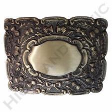 New H M Highland Piper Thistle Design Kilt Belt Buckle Brass Antique Finish