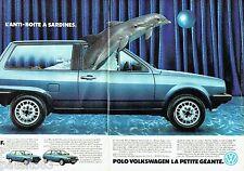 PUBLICITE ADVERTISING 106  1983  Volkswagen (2p)  la Polo CL