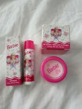 Vintage New 1997 Collectible Avon Barbie Pink Lip Balm & lip gloss