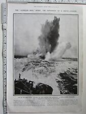More details for 1918 wwi print the explosion of a depth-charge weapon against submarines