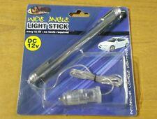 Blue LED Car Interior Light Stick Foot well Cigarette Lighter Decor Wide Angle