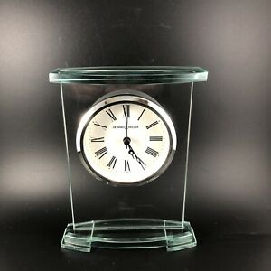 645-691 HOWARD MILLER TABLE TOP GLASS ALARM CLOCK AUGUSTINE New in Box BATTERY