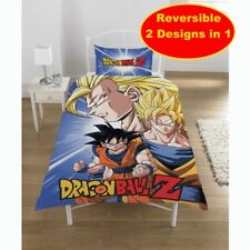 OFFICIAL DRAGON BALL Z BATTLE SINGLE DUVET QUILT COVER SET BOYS FAN BED GIFT