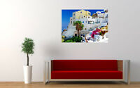 "OIA SANTORINI IN GREECE NEW LARGE ART PRINT POSTER PICTURE WALL 33.1""x23.4"""