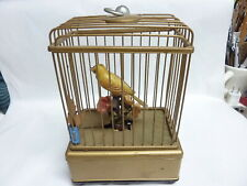 Antique Music Box Bird Cage For Parts made in Japan battery operated D cell