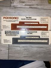 Vintage Slide Rule Calculator Flow Calculators Lot Of 2