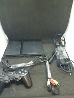 Sony Playstation 2 PS2 Slim Black Console SCPH-70012 Bundle W/ Controller