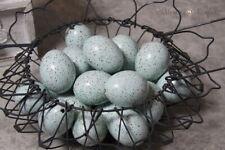 12 Hühnereier blau gepunktet Wildenteneier leere ausgeblasene Eier Ostereier