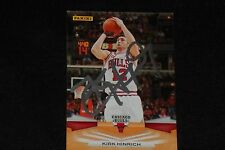 KIRK HINRICH 2009-10 PANINI SIGNED AUTOGRAPHED CARD #57 CHICAGO BULLS