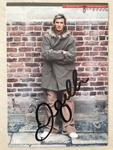 Hand Signed David Beckham Photo Autograph Card