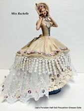 Porcelain Half Doll, Miniature Doll w/Legs, Dresser Doll, Cabinet Doll