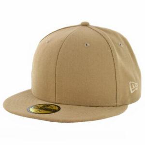New Era 59Fifty Plain Tonal Fitted Hat (Khaki) Men's Blank Work Uniform Cap