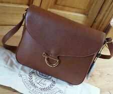 BNWT Polo Ralph Lauren 100 % Cow Leather Newbury Shoulder Bag Tan Colour