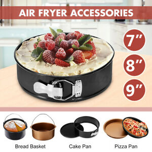 7/8/9INCH Pizza Pan Cake Pan Bread Basket Air Fryer Accessories Kitchen Tool