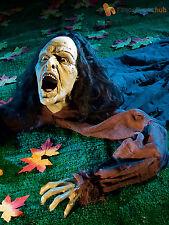 Halloween arrastrarse Bendable Zombie piso Prop Fiesta Decoración cementerio Horror