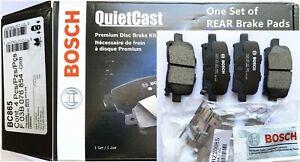 Rear Disc Brake Pad Set for 2003-2008 Honda Pilot-Bosch BC865 Ceramic,w Hardware