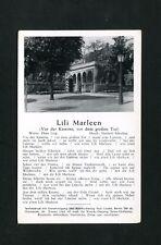 """Lili Marleen - Liedtext """"Vor der Kaserne ...""""  (KA-1)"""