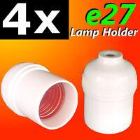 4 units E27 ES Edison Screw Lamp Holders for Halogen LED CFL Bulb lightings