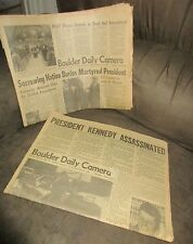 The Boulder Daily Camera Newspaper Prest. Kennedy Assassinated 11/22 + 11/25/63