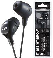 JVC HA-FX38 BLACK Marshmallow In-Ear Headphones Tangle-Free Original /Brand New