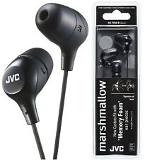 JVC HA-FX38 BLACK Marshmallow In-Ear Headphones Tangle-Free Original /Brand New