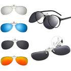 AT Polarized UV400 Resin Lenses Metal Frame Flip-up Glasses Clip-on Sunglasses