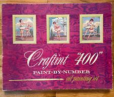 """Vintage 1958 Paint By Number Kit - Craftint """"400"""" W - Joie de Vivre Ballet Theme"""