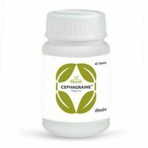 Charak Ayurveda CEPHAGRAINE 40 Tablets   Herbal   Free Shipping