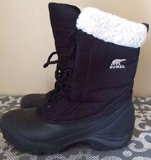 Sorel Winter Boots Black Lace Up Women's Size 7 EUC