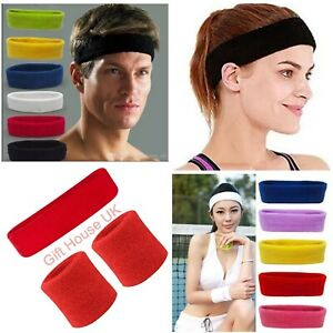 Towel Headbands Wristbands Fitness Gym Running Exercise Cycling Yoga Sweatbands