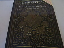 Auction Catalog- Christie's Printed Books & Manuscripts: Wednesday, 9 June, 1999