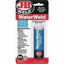 (6 PACK) JB WELD WATERWELD EPOXY - CURES UNDER WATER STRONG-DRILLABLE