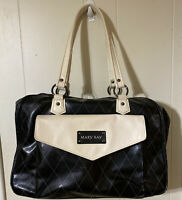 Mary Kay Large Black & Cream Consultant Overnight Make Up Travel Tote Bag