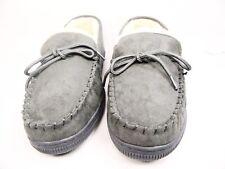 Boston Traveler  Moccasin Slippers 212M Gray Size 9