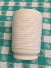Martha Stewart Collection Bathroom Glass Cup Tumbler Ribbed Ivory