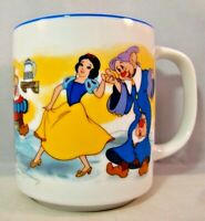 Snow White Mug Cup Seven Dwarfs Disneyland Disney World Dopey Doc Bashful Happy