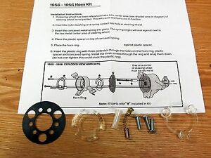 1955 1956 CHEVY HORN RING INSTALLATION KIT   Belair & 210 Models  ** USA MADE **