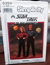 Simplicity 9394 Sewing Pattern Star Trek The Next Generation Uniforms 34-44