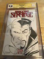 Dr. Strange #1 Two Faces Sketch Marat Michaels w VISION by Norm Rapmund CGC 9.8