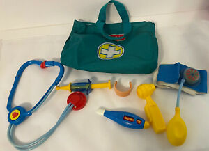 Fisher Price Medical Kit Play Doctors Nurse Toys Lot of 5 Bag with Instruments