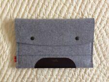 "Pack & Smooch~iPad Pro~Tablet~Cover Sleeve~8 1/4""x13""~Wool Felt~Made In Hamburg"