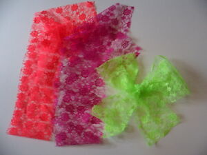 80's neon scarf
