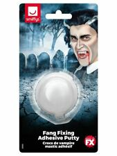 Halloween Fancy Dress Vampire Tooth Cap Fang Adhesive Putty New By Smiffys