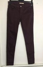 LEVIS W28 L32 701 Super Skinny Jeans Burgundy Dark Red Levi Sculpt Stretch