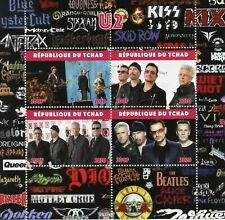 Chad Music Stamps 2020 MNH U2 Bono The Edge Adam Clayton Famous People 4v M/S