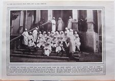 1915 WWI WW1 PRINT LADY PAGET'S HOSPITAL STAFF AT USKUB